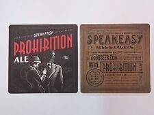 Beer Bar Coaster ~*~ SPEAKEASY Brewery Co Prohibition Ale ~*~ San Francisco Ales