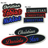 """Custom Embroidered Name Patch 5"""" Biker Motorcycle Badge Tag Vest Personalized"""