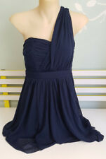 SIZE 8 DOTTI ONE SHOULDER NAVY BLUE LINED DRESS GREAT FOR A NIGHT OUT !