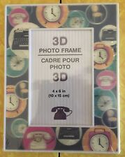 "(New) 3D Photo Frame Cadre Pour Photo (Size : 4"" x 6 "" ) 10 cm x 15 cm"