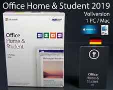 Microsoft Office Home & Student 2019 Vollversion Box 1 PC/Mac Deutsch ML OVP NEU