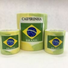 New listing Caipirinha Rio de Janeiro Brasil Set of 3 Cup Mug with Recipe & Small Shot Mugs