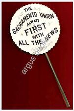 C. 1900 RARE HONEYCOMB Advertising DECORATION Novelty SACRAMENTO UNION NEWSPAPER