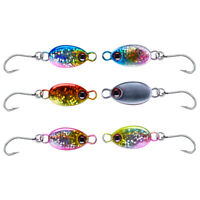 12pcs/lot Ice Jigs 3.2g 5.3g Lead Spoon Lures Hard Bait Hook Trout Bass Pike