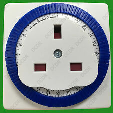 Status 24 Hour Segment Timer Switch Programmable on off Function UK Mains Plug