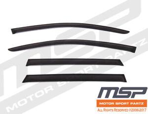 Dark Grey Outside Mount JDM Visors Deflector 4pcs For Volkswagen Touareg 10-16