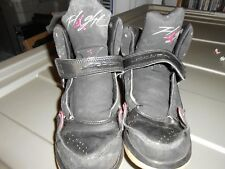 Nike Air Jordan Flight Shoes Sneakers Size 2 Youth Boys Black Red High Tops