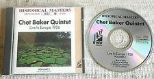 Chet Baker Quintet – Live In Europe 1956 Volume 2  - CD Limited edition