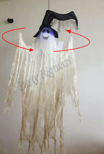 Hanging Spinning Creepy Ghost 120cm Sound Light up Halloween Party Decoration-AU