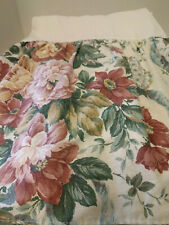 "Vtg Jc Penny Queen Bed Skirt Floral Cottage Chic 14.5"" Drop"
