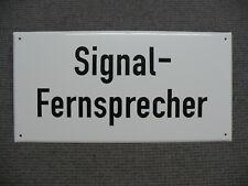 "Emailleschild ""Signal-Fernsprecher"" 60 x 30 cm / Eisenbahnschild / Lokschild"
