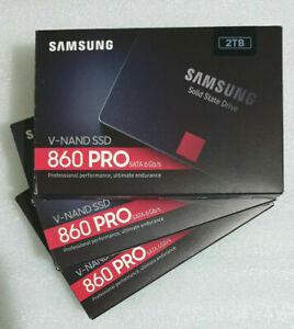"Samsung 860 PRO 2TB SSD V-NAND SATA 2.5"" Internal Solid State Drive MZ-76P2T0 ."