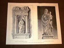 La scultura in Sicilia dal XV° al XVI° secolo Madonna del Gagini in Palermo