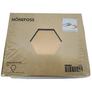 IKEA HONEFOSS 10 Hexagonal Chrome Brass Mirrors Decor 19661 Julia Treutiger New