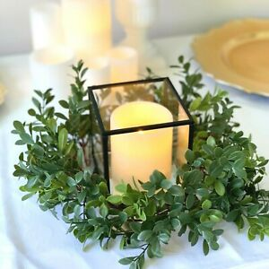 Greenery Foliage Wreath - Christmas Wedding Party Table Centrepiece Decorations