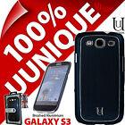 New Uunique Hard Shell Case for Samsung i9300 Galaxy S3 Cover Aluminium Blue