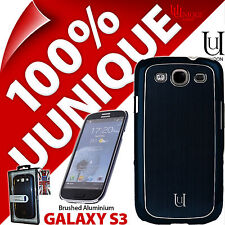 New Uunique Hard Shell Case for Samsung i9300 Galaxy S3 Cover Aluminium Blue