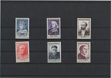 1954 - Célébrités, 989 à 994 neufs  (06-064.17)