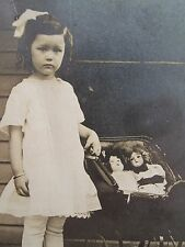 ANTIQUE VINTAGE TOY DOLLS BABY CARRIAGE ANGEL TLC PAPA TOOTS RPPC ARTISTIC PHOTO