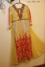 Indian Pakistani Indo Western brocade Salwar suit party wear gown full Stitched