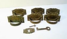 Set Of 6 Antique Handles Of Furniture Bronze