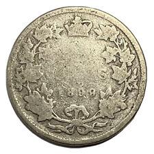 1899 Canada 25 Cents Quarter Dollar Silver Coin - Queen Victoria