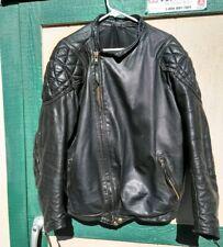 Vintage 1980's Langlitz Padded Cascade Leather Motorcycle Men's Jacket 48/50 Xl