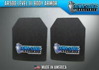 AR500 Level III 3 Body Armor Plates Pair - Curved 11x14