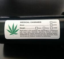 1000 GREEN LEAF Medical Marijuana Labels - ALL STATE COMPLIANT Cannabis Stickers