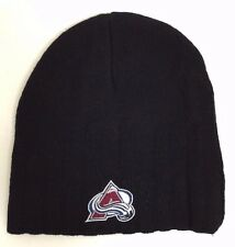 Colorado Avalanche NHL Youth Black Winter Fitted Beanie Hat NWT Size 4-7 Years