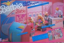 "Barbie FLIGHT TIME Playset w ""Working"" TICKET DISPENSER 1989 MATTEL NEW SEALED"