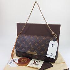 Authentic Louis Vuitton Favorite MM Monogram M40718 Guaranteed Cross Bag LC580