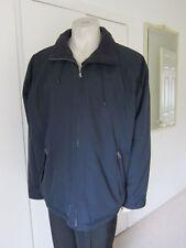 Mens CREW Clothing Black Fleece Lined Hip Length Jacket Built in Hood Sz XL VGC
