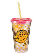 Mr. Men Little Miss Sunshine 18 oz Acrylic Travel Cup with Straw, NEW UNUSED