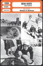 BEAU GESTE - Cooper,Milland,Hayward,Wellman (Fiche Cinéma) 1939