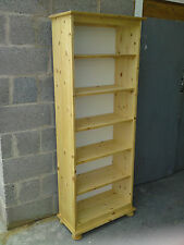 OLD MILL PINE NEW HAMPSHIRE RANGE 6FT BOOKCASE SOLID PINE NO FLAT PACKS!!!!