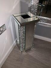 Crushed Diamond Glitzy Floating Crystal Mirror Floor / Table Vase