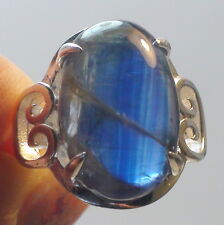 BEAUTIFUL! BIG! 20.15 ct NATURAL KYANITE RING  925 STERLING SILVER.SIZE 7.25.