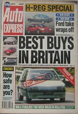 Auto Express magazine 3-9 July 1990 No.92 featuring Range Rover, Toyota