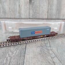 FLEISCHMANN 94 5245 A - SPUR N ÖBB Tiefladewagen Container P&O NEDLLOYD #A26647