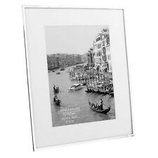 "Impressions Silver Plated Photo Frame White Border 5"" X 7"" FS16057"