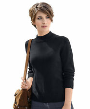 Collection L. Sweater With Turtleneck Collar Black Size UK 14 DH084 JJ 24