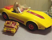 Vintage Barbie 1979 Mattel Super' Vette Remote Control Corvette W Mirrors-Works!