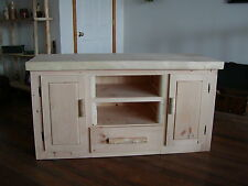 entertainment center made of soled wood