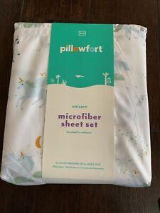 """New Pillow Fort Bedding Sheet Set """"Unicorn"""" Full"""