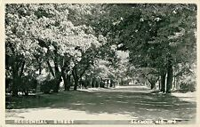A Quiet Day On A Residential Street In Seymour, Wisconsin WI RPPC 1956