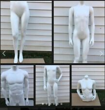 Female & Males  White Fiberglass Headless mannequins