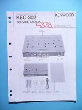 Instrucciones Manual de servicio para Kenwood kec-302, original