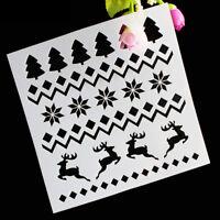 Stencil decorativo mascherina decorazione natalizia natale renne dolci Cake