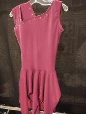 Costume Gallery Lc plum skirted leotard dance skate Euc